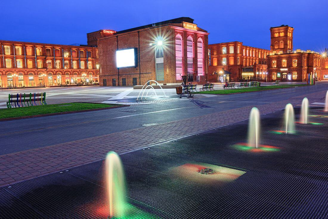 Manufaktura in Łódź - a classic example of Hard Loft - a former textile factory was transformed into a shopping centre