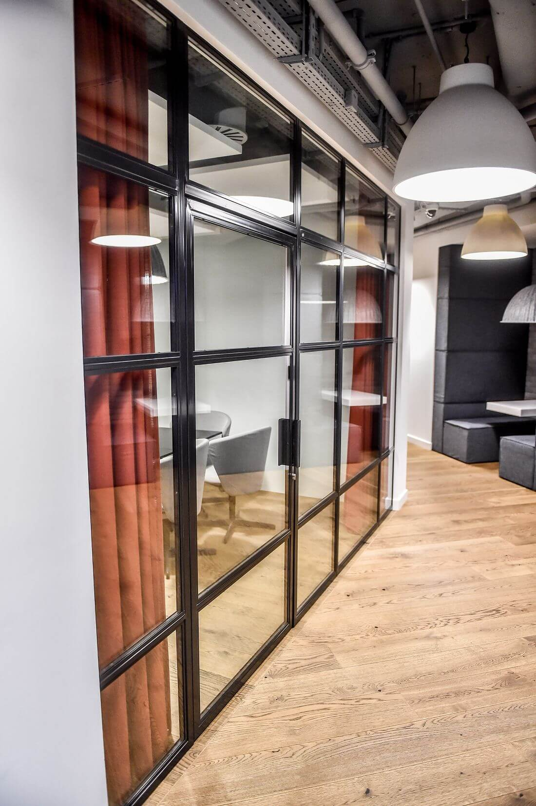 Glass Loft Metal Doors in Studio HBO Poland