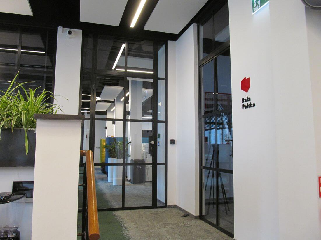 Black Industrial Loft doors from Metal and from Constructional Steel in EIP office in Warsaw