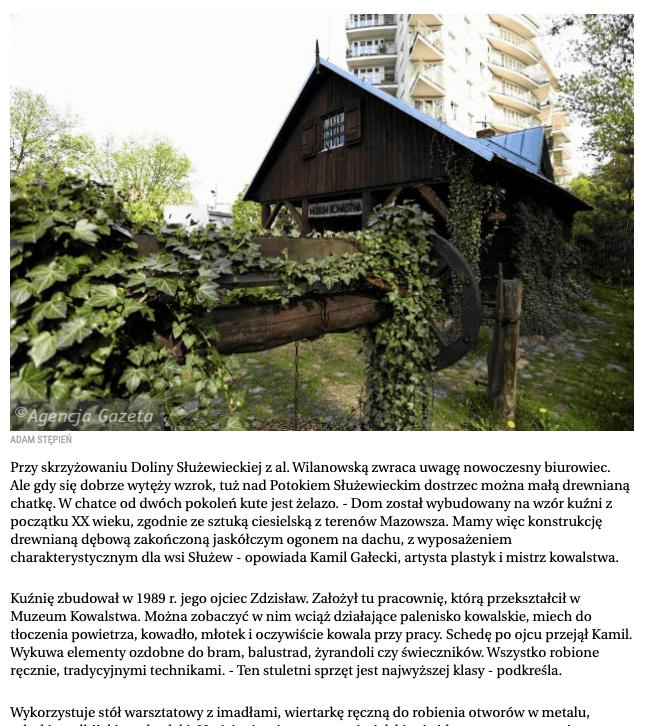 Muzeum Kowalstwa w Warszawie Gazeta Wyborcza
