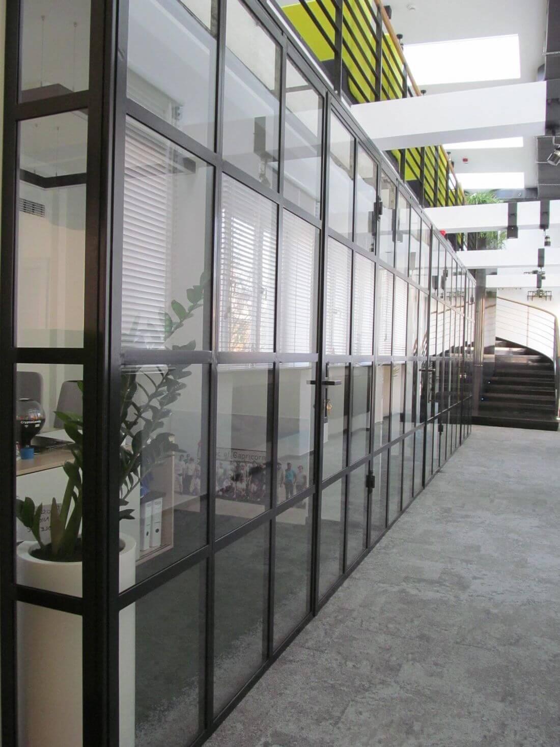EIP System Drzwi i Ścianek Loftowych Industrialnych Szklanych do dedykowanych pomieszczeń biurowych