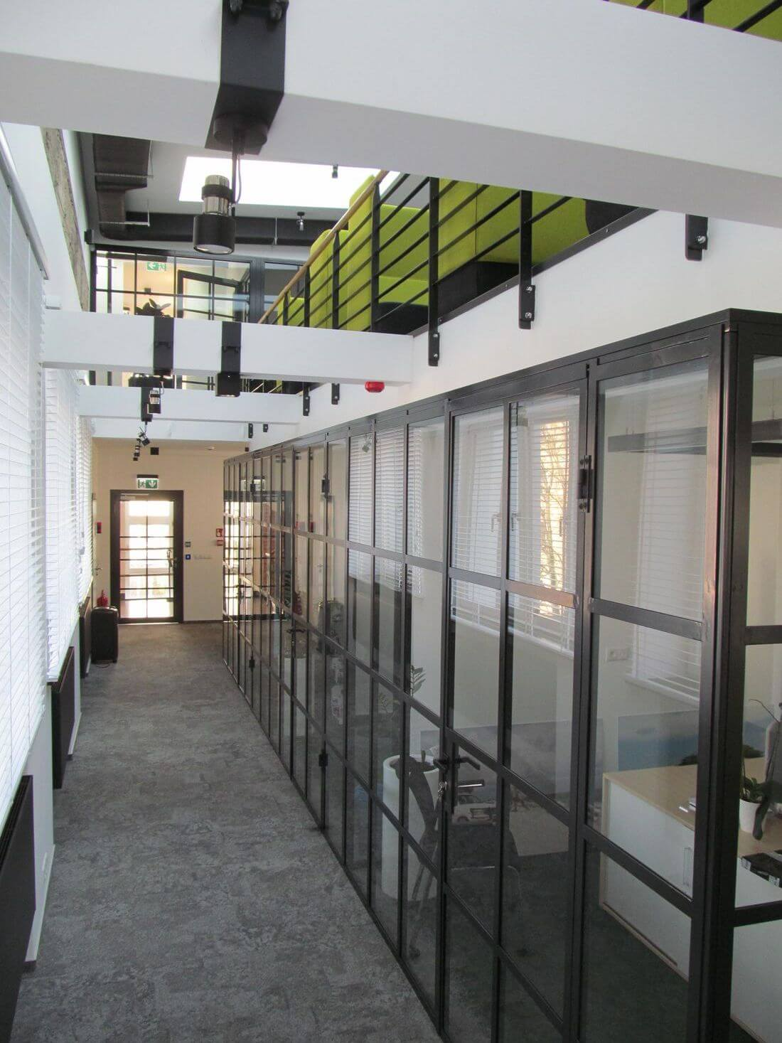 EIP Loft System Industrial Loft Doors and Loft Walls made of structural steel and glass in Warsaw