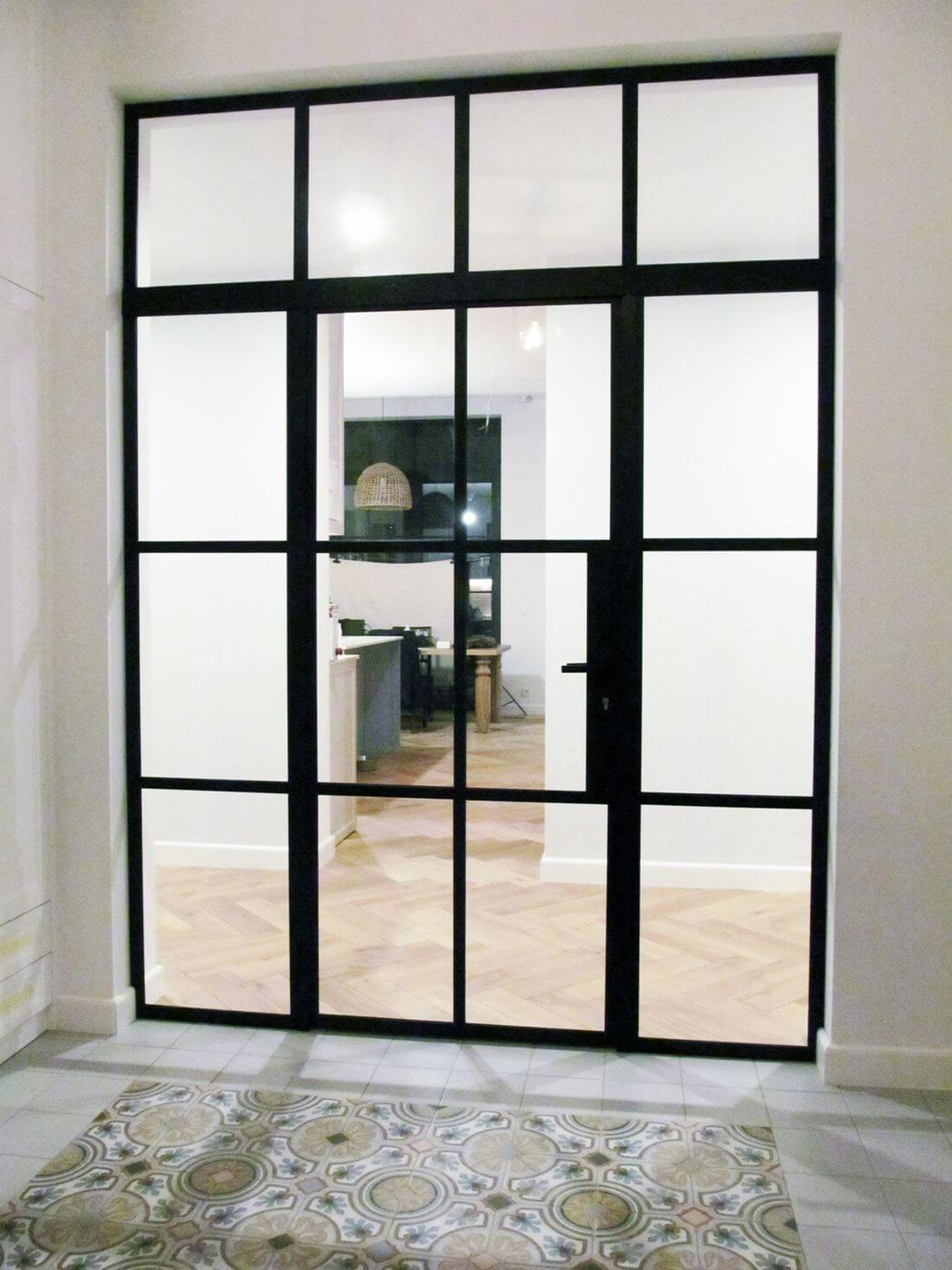 Glass Swing Loft Doors with Loft Walls with glazing in separate sixteen quarters